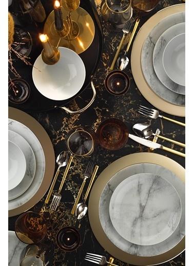 Kütahya Porselen Kütahya Porselen Marble Zeugma 24 Parça Yemek Seti Dekor DG385 Renkli